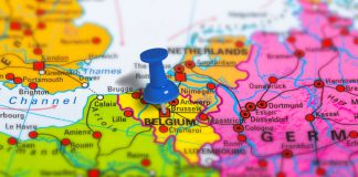 Brussels Belgium map