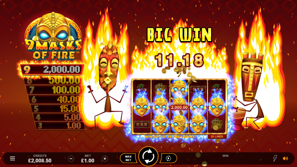 Spiele 9 Masks Of Fire - Video Slots Online
