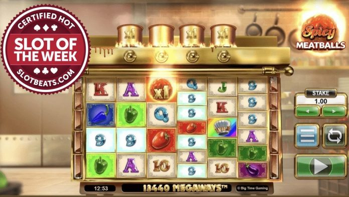 """Big Time Gaming has claimed this week's SlotBeat SOTW serving its """"sizzling hot"""" new slot title, Spicy Meatballs Megaways."""