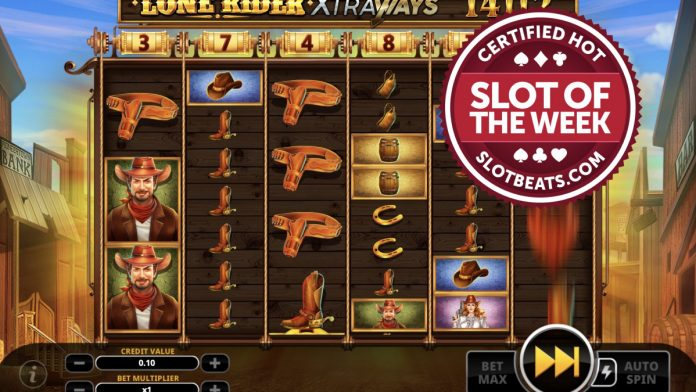 Swintt has taken SlotBeats' Slot of the Week title all the way to the Wild West with its latest slot, Lone Rider Xtraways.