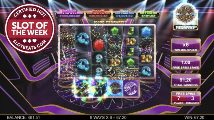 For the second consecutive week, Big Time Gaming has claimed SlotBeats' Slot of the Week award with its Who Wants to be a Millionaire title