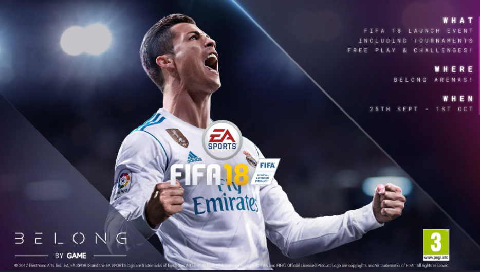 1b7ebc089f96 GAME Belong is hosting midnight launch events for FIFA 18 - Esports Insider