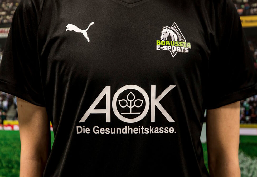 Borussia E sports AOK - Borussia E-Sports adds AOK as health partner