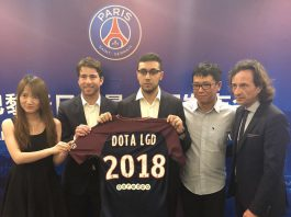 Xuan Li at the PSG.LGD launch event in 2018