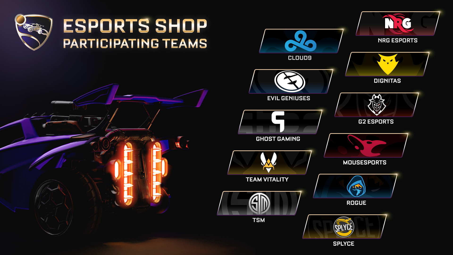 Rocket League Esports Shop