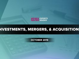 investments, mergers, and acquisitions October 2019