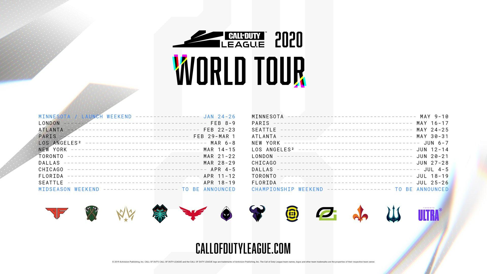 Call of Duty League Schedule