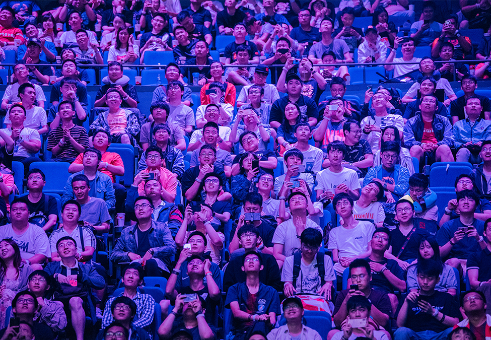 Fans at TI9