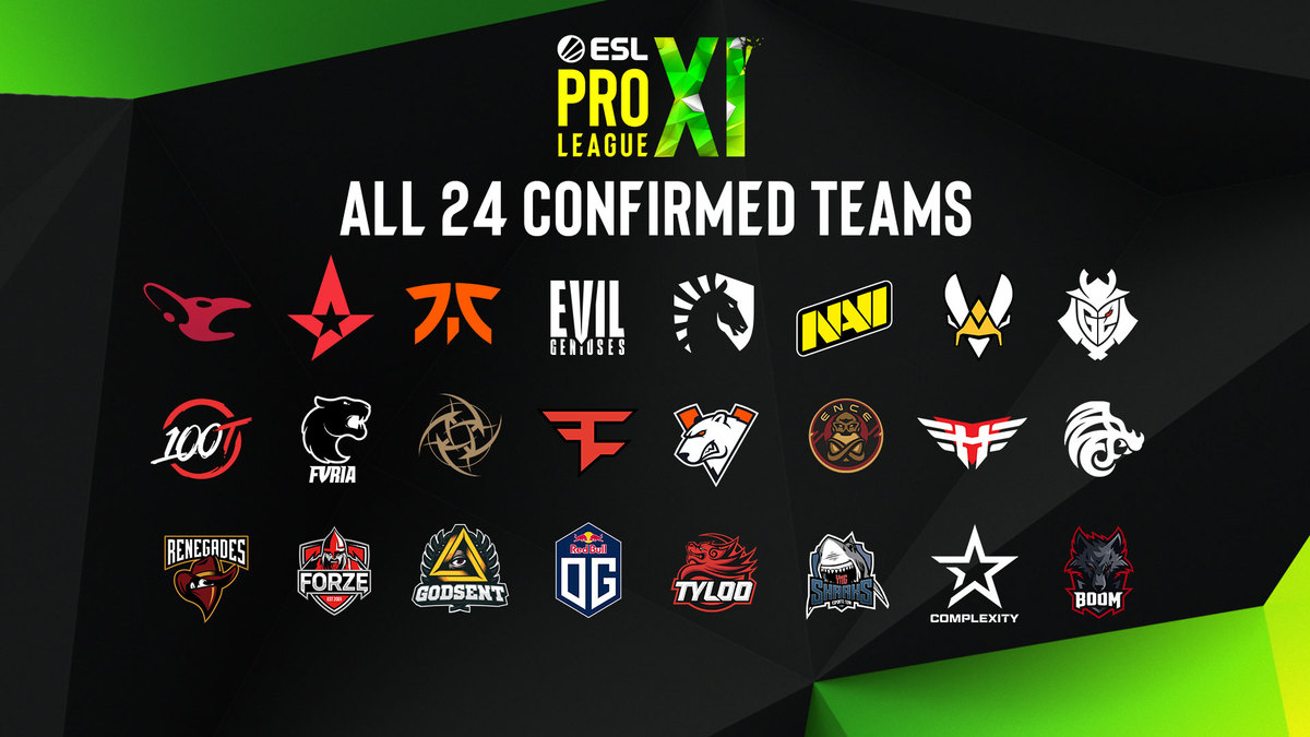 ESL Pro League Season 11 Teams
