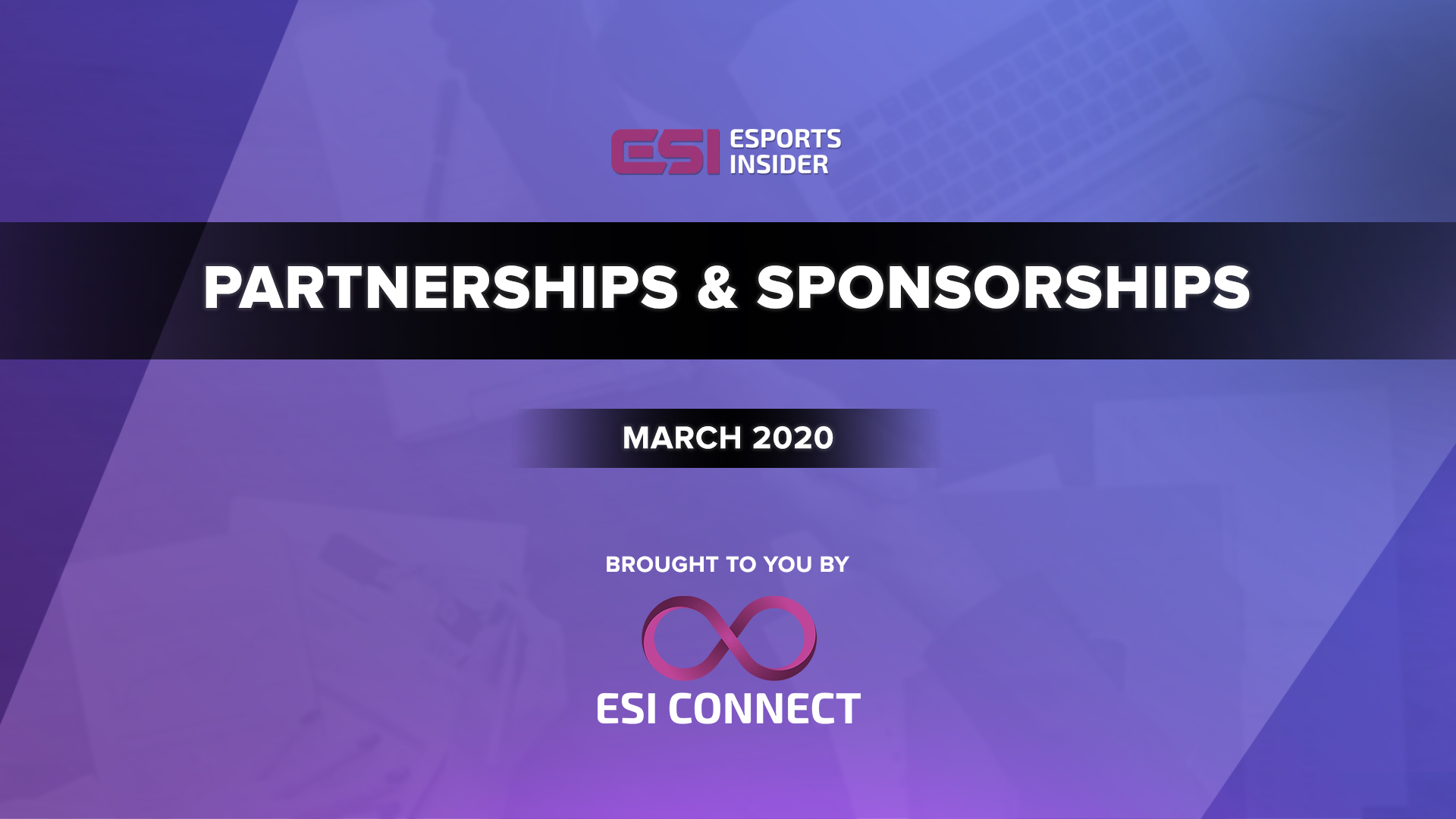 Esports Partnerships and Sponsorships March 2020