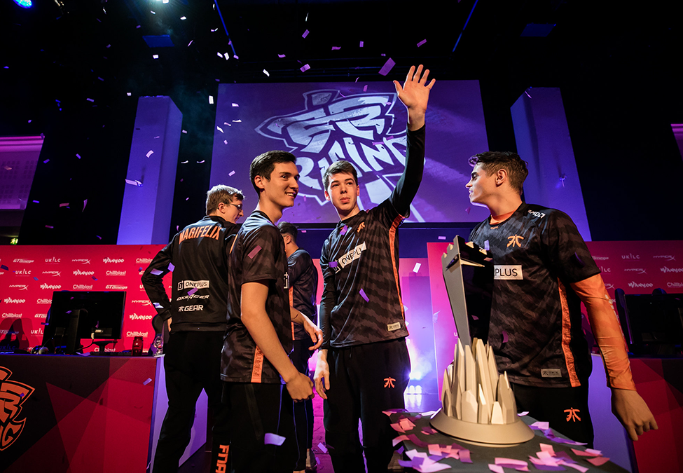 Fnatic Rising, winners of the 2019 UKLC Summer Split.