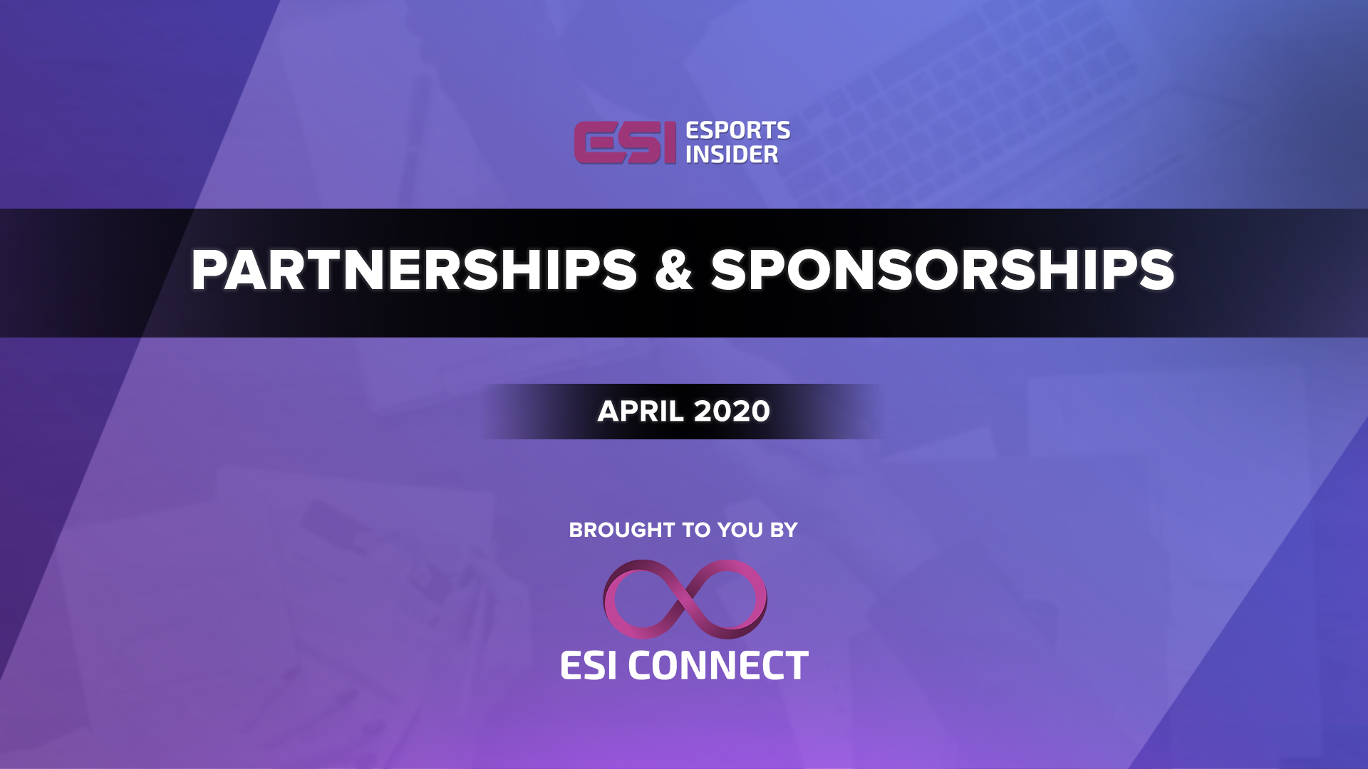 Esports Partnerships and Sponsorships April 2020