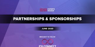 Esports Partnerships and Sponsorships June 2020