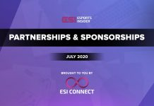 Esports Partnerships and Sponsorships July 2020