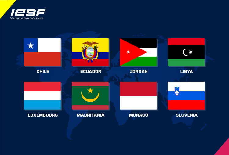 International Esports Federation adds eight more member nations