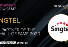 ESI Digital Winter Hall of Fame 2020 Key Partner Singtel