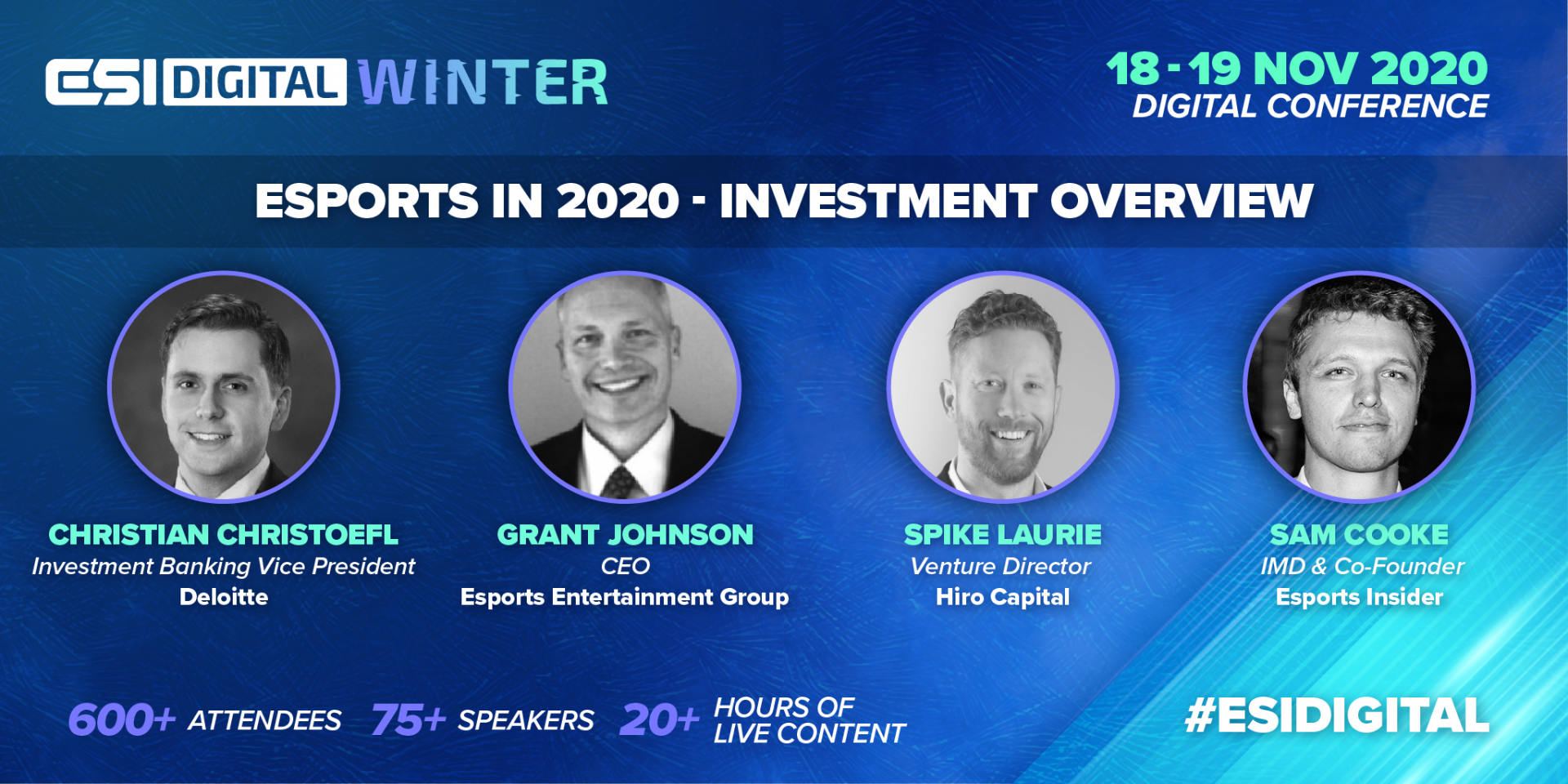 ESI Digital Winter Local Economic Impact of Hosting a Major Esports Tournament Panel