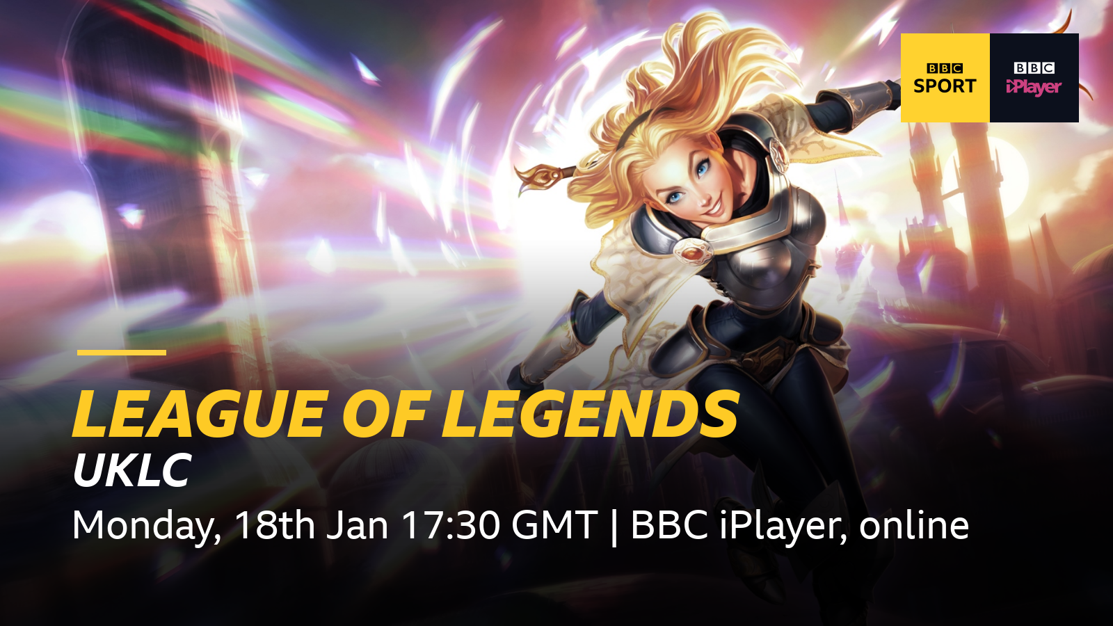 BBC Sport set to broadcast League of Legends' 2021 UKLC Spring Split