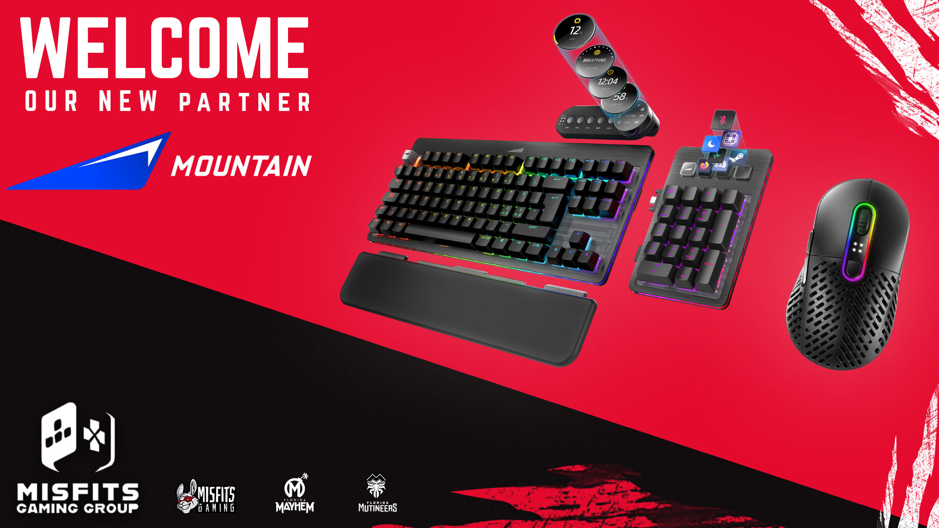 Peripherals company MOUNTAIN signs exclusive deal with Misfits Gaming Group