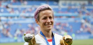 World Cup winner and USA's Megan Rapinoe