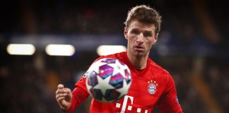 Thomas Muller in action for Bayern Munich