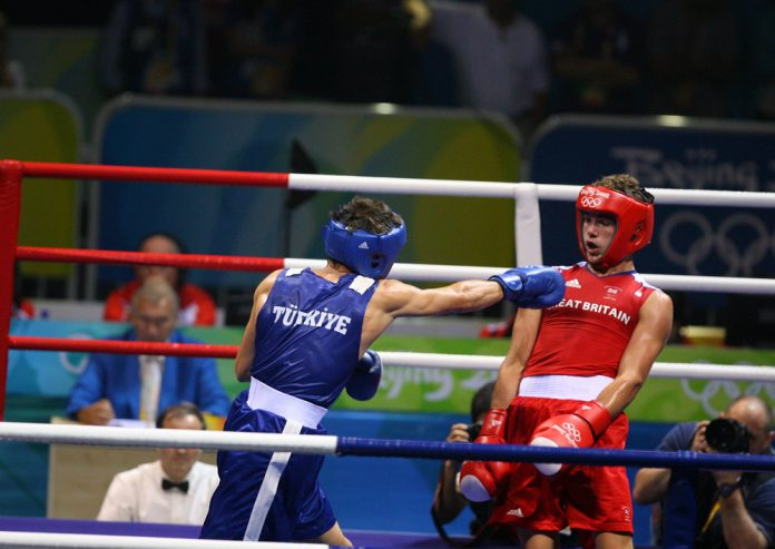 Super-middleweight champion Billy Joe Saunders in action