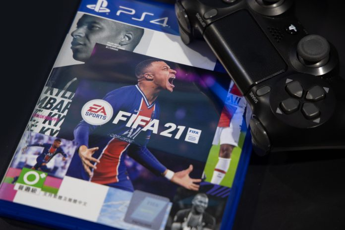 A cover of the popular FIFA 21 video game