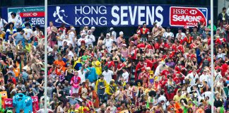 Fans at the Hong Kong Sevens rugby tournament