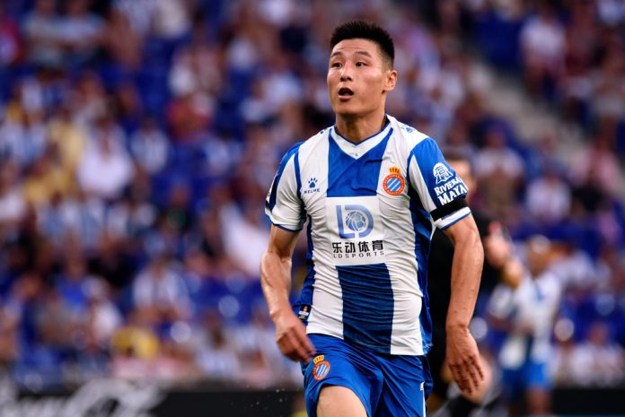 Wu Lei in action for Espanyol