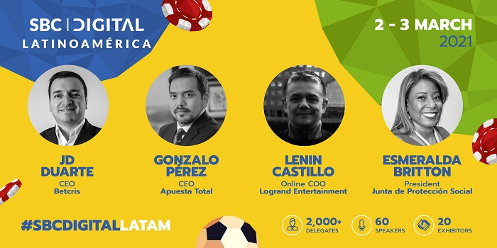 SBC Digital Latinoamérica will feature a line-up of senior executives and specialists with experience in the region's betting, casino and lottery markets.
