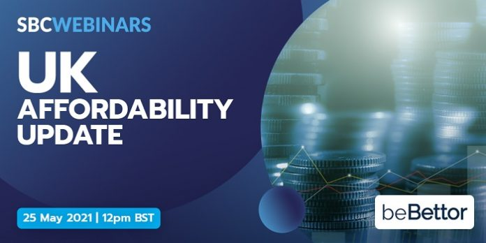 SBC Webinars' UK Affordability Update on May 27 will feature beBettor's Scott McGregor, One Click Limited's Natalie Carter, and BetBull's Ian Tannock.
