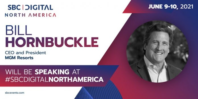 MGM Resorts International CEO & President Bill Hornbuckle, has joined the speaker line-up for the Leaders in iGaming track at June's SBC Digital North America.