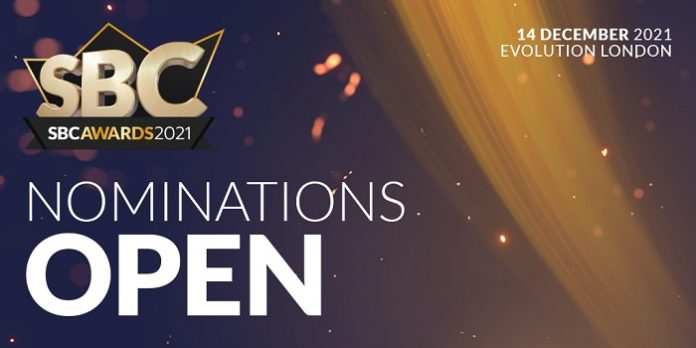 The SBC Awards will return to the stunning Evolution London venue for their eighth edition on 14 December 2021.