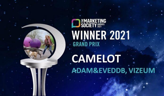 UK National Lottery operator Camelot has won three awards at the annual Marketing Society Awards.