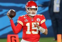 Despite losing to the Tampa Bay Buccaneers in Super Bowl LV, the Kansas City Chiefs are the odds-on favorite to win Super Bowl LVI, according to TheLines.