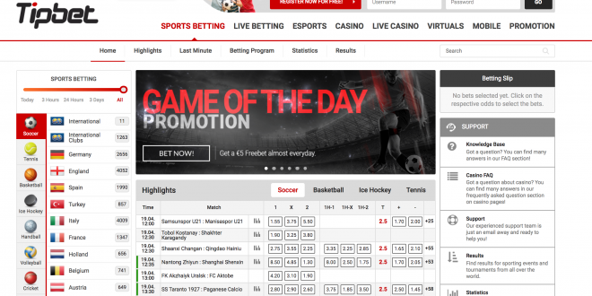 High Performance…TipBet launches new website driving player engagement