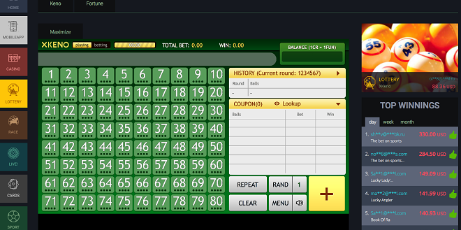 InBet brings the 'X' factor to Keno virtual lottery solution