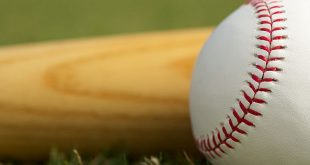 Sportradar - 18825724 - baseball close up bat on the grass with room for copy