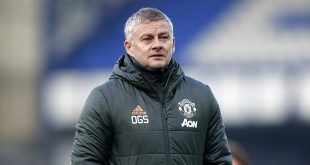 Premier League - Manchester United manager Ole Gunnar Solskjaer walks off the pitch at half time of the Premier League match at Goodison Park, Liverpool.
