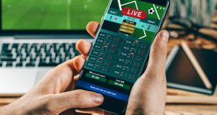 Close up of online mobile betting