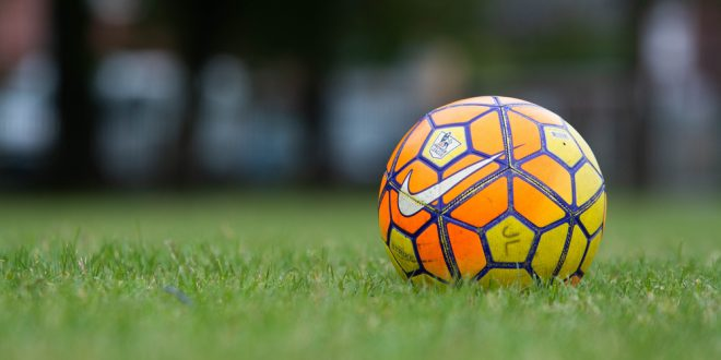 Close-up shot of a Premier League matchball