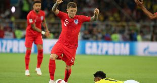 Kieran Trippier in action for England