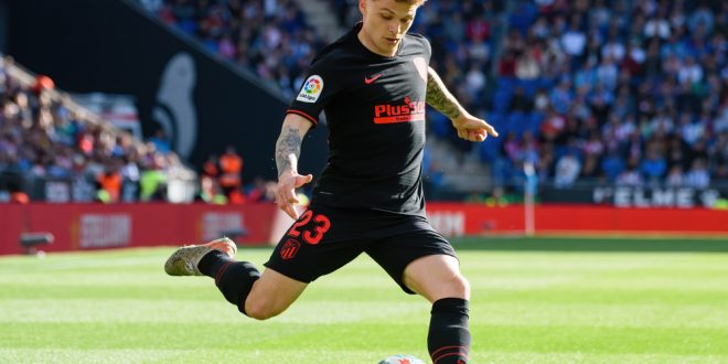 Atletico Madrid defender Kieran Trippier in action for the La Liga club
