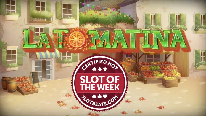 Slot of the Week image of Tom Horn Gaming's La Tomatina title