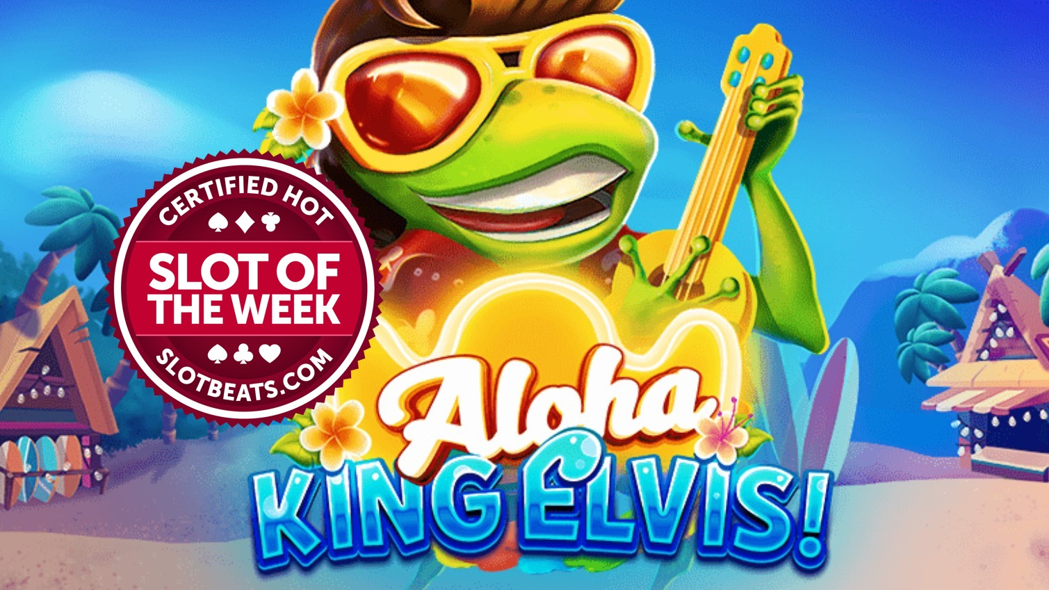 BGaming has taken our Slot of the Week award to Hawaii claiming this week's flower crown with its winning title, Aloha King Elvis.