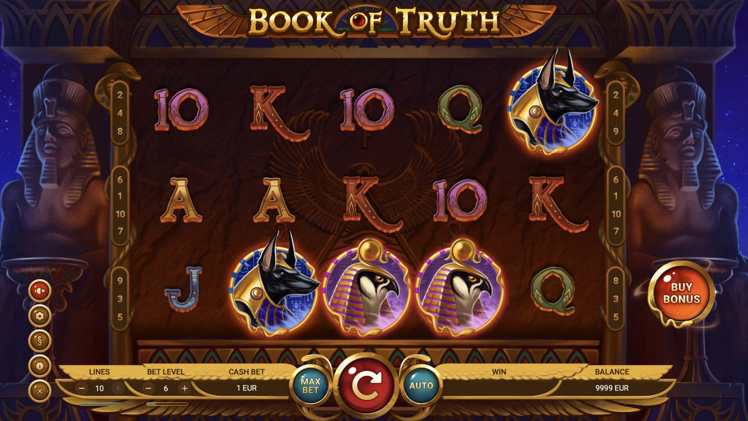Book of Truth is a 5x3, 10-payline slot which includes a True Free Spins mode that incorporates expanding symbols.