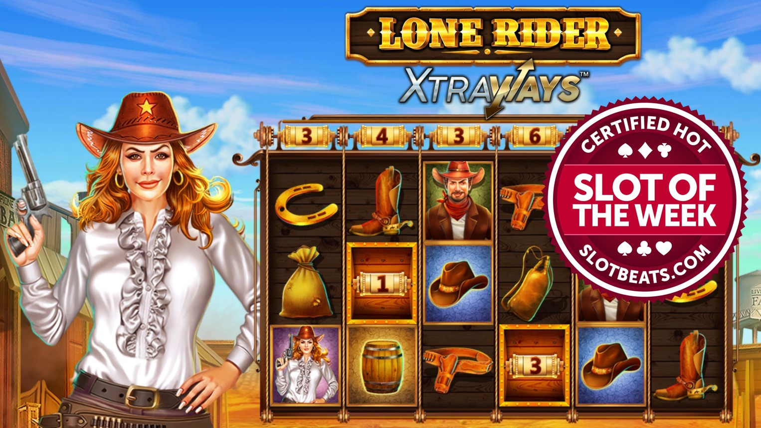 Swintt has lassoed our Slot of the Week award taking players on a ride to the Wild West with its latest title, Lone Rider XtraWays.