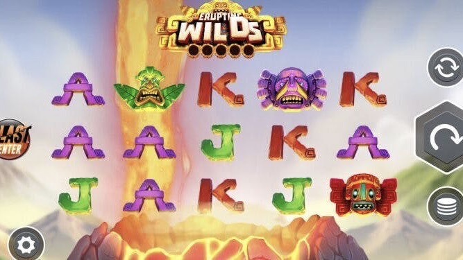 Erupting Wilds is a 5x3 slot with paylines ranging between 243-3,125; featuring volcano wilds, expanded wild reels and lava reel respins.