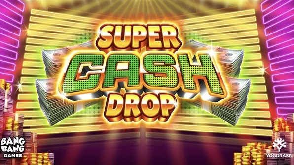 Super Cash Drop is a 5x4-5x8 video slot with up to 502 paylines, featuring Super Stretch Wilds and Super Free Spins features.