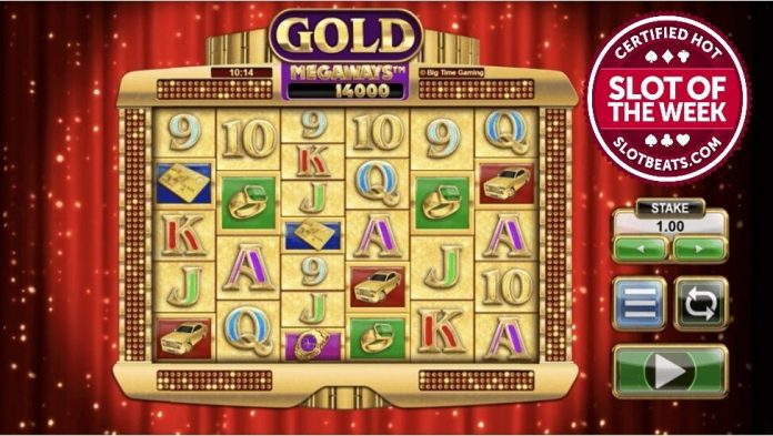 Gold Megaways is a 6x2 to 6x7 slot with up to one million ways to win, including features such as a Win Exchange mechanic and free spins.